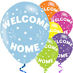 "Welcome Home Balloons - 11"" Latex"