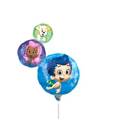 "Bubble Guppies Balloon on a Stick - 9"" Foil"
