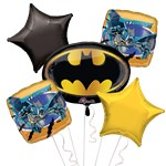 Batman Balloon Bouquet - Assorted Foil