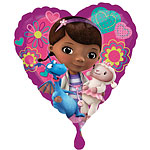 "Doc McStuffins Heart Balloon - 18"" Foil"