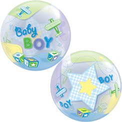 Baby Boy Airplanes Bubble Balloon - 22""