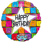 "Faces Sing-a-Long Happy Birthday Balloon - 28"" Foil"