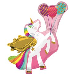 "Winged Unicorn Supershape Balloon - 34"" Foil"