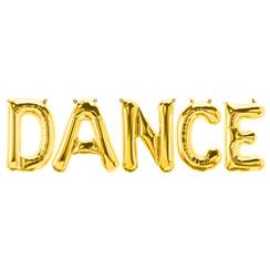 'DANCE' Gold Foil Balloon Kit - 16""