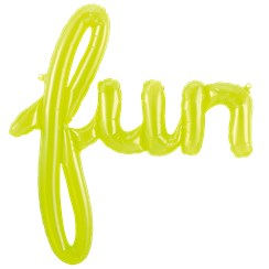 Fun Clear Green Script Phrase Balloon - 43""