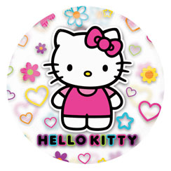 "See Through Hello Kitty Birthday Balloon - 26"" Foil"