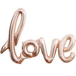 "Love Rose Gold Phrase Balloon - 40"" Foil"