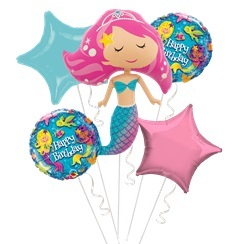 Mermaid Magic Balloon Bouquet - Assorted Foil