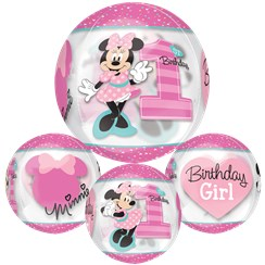 "Minnie Mouse 1st Birthday Orbz Balloon - 16""-18"" Foil"