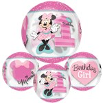 "Minnie Mouse 1st Birthday Orbz Balloon - 25"" Foil"