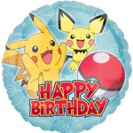 "Pokemon 'Happy Birthday' Balloon - 18"" Foil"