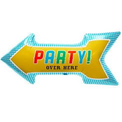 "Party Arrow Balloon - 36"" Foil"