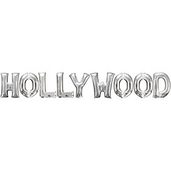 'Hollywood' Silver Balloon Kit - 16""
