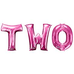 "'TWO' Pink Balloon Kit - 34"" Foil"