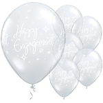 Happy Engagement Diamond Clear Balloons - 11