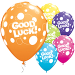 "Good Luck Dots Balloons - 11"" Latex"