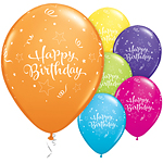 "Happy Birthday Shining Star Balloons - 11"" Latex"
