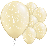 Ivory Pearl Butterflies Balloons - 11