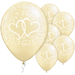 Ivory Entwined Hearts Wedding Balloons - 11