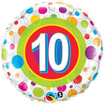 Colourful Dots 10th Birthday Balloon - 18
