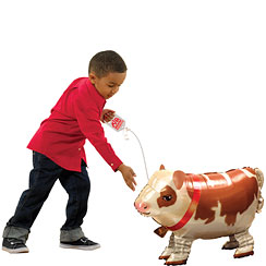 "Cow Airwalker Balloon - 25"" Foil"