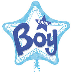 "Baby Boy 3D Effect Balloon - 39"" Foil"
