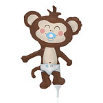 Baby Boy Monkey Balloon on a Stick - 14