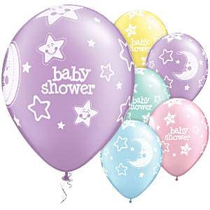 baby shower moon stars balloons 11 latex pack of 25