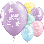 11'' Baby Shower Moon & Stars Assortment