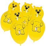Yellow Bear Shaped Giant Balloons - Latex