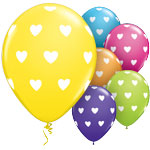 "Big Hearts Assorted Balloons - 11"" Latex"