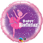 Ballerina Happy Birthday Balloon - 18