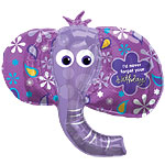 "Birthday Elephant Supershape Balloon - 42"" Foil"