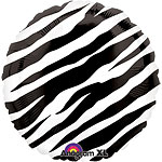 "Black Zebra Print Balloon - 18"" Foil"