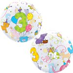 3rd Birthday Cuddly Pets Bubble Balloon - 22""