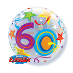 60th Birthday Bubble Balloon - 22""