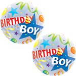 Birthday Boy Hat Bubble Balloon - 22""