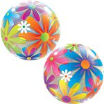 Fanciful Flowers Bubble Balloon - 22""