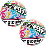 Happy Birthday Music Note Bubble Balloon - 22""