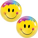 Bright Smile Face Bubble Balloon - 22""