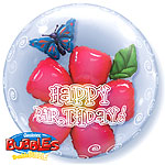 Birthday Flower Double Bubble Balloon - 24""