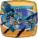 "Batman Happy Birthday Square Balloon - 18"" Foil"
