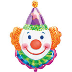 "Juggles the Clown Supershape Balloon - 33"" Foil"