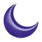 26'' Purple Crescent Foil