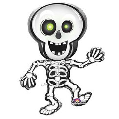 "Halloween Dancing Skeleton Large Balloon - 33"" Foil"