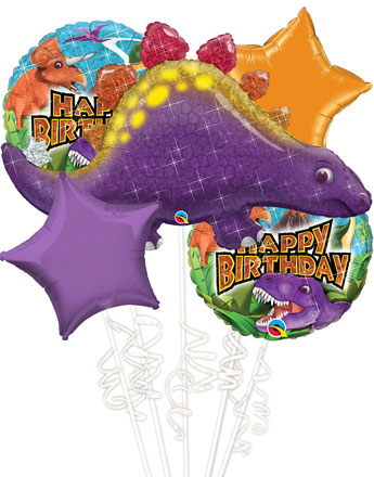 Dinosaur Balloon Bouquet - Assorted Foil