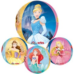 "Disney Princess Clear Orbz Balloon - 16""-18"" Foil"