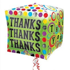 "Cubez Thank You Polka Dots Balloon - 24"" Foil"