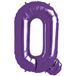 Purple Letter Q Balloon - 34'' Foil
