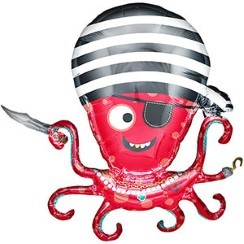 "Pirate Octopus Balloon - 35"" Foil"